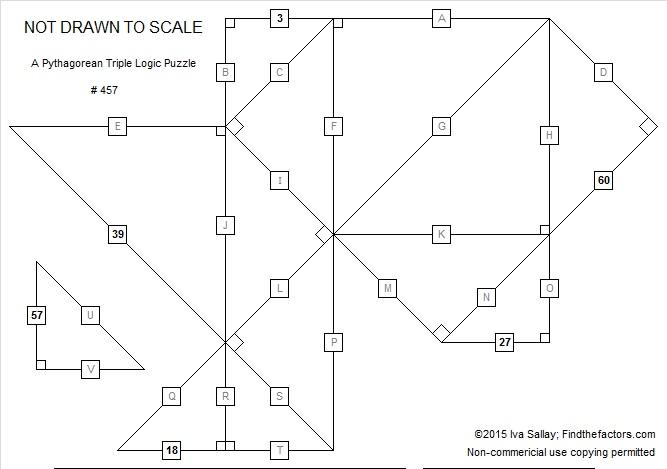 457 A Pythagorean Triple Logic Puzzle Find The Factors